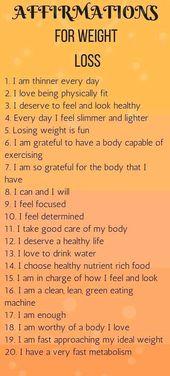 Top 20 Bestätigungen für Gewichtsverlust