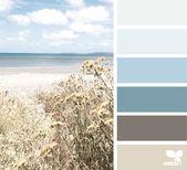 Farbpalette für maritimes Stil im Schlafzimmer