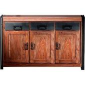 Solid wood sideboard made of sheesham wood scrap metal furniture ExclusiveMöbel Exclusive