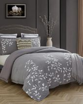 3 Piece Laurel Park Autumn Chain Embroidery Comforter Set