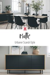 Urban, Scandinavian & Noble: The Wohnreihe Malte. # meinhöffi # opener #ho …  – Esszimmer Ideen