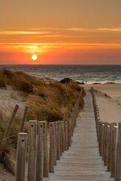 Magnifique coucher de soleil au bord de mer #voyage #plage