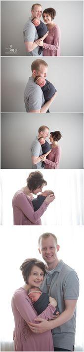 Neugeborene Fotografie mit Baby / dreiköpfiger Familie / Mama, Papa und Baby   – Newborn/Baby Photography