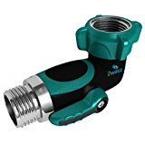 2wayz 90 Degree Garden Hose Elbow With Shut Off Valve Free Up Space Upgraded 2017 Full Metal Bolted A Water Garden Vegetable Garden For Beginners Garden Hose