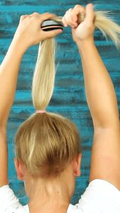: 30 second hairstyle – If you want it to go fast and look good: just put a sock in your hair! Long vide – #babyhairstylesboy # …