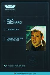 Project Prometheus Employee I D Card Cards 20th Century Studios Fiction