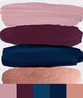 Rose Gold und Navy Palette Erstellt von Dream Now…