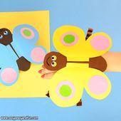 Schmetterling Papierhandpuppe – DIY Ideen