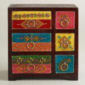 Eine meiner Lieblingsentdeckungen bei WorldMarket.com: Painted Wood Box with Drawers
