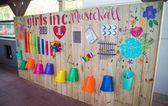 Fashionable kids playground yard music wall Concepts