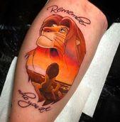 75 erstaunliche Simba Tattoos    Wenn Sie nach einem wunderschönen Disney-Tattoo suchen …