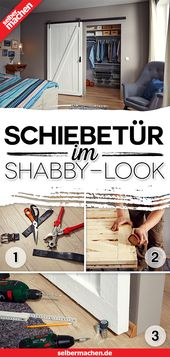 Schiebetür im Shabby-Look bauen