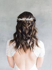 Bridal Hair Comb, Leaf Hair Comb, Wedding Headpiece, Wedding Hair Comb, Bridal Headpiece, Leaf Headp