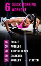 Tops 6 Schnelle Morgen Workouts für Frauen zu Hause .. #ab_workouts #abswomenphotogra ...