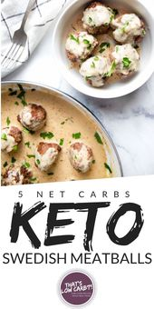 Keto Swedish Meatballs are the low-carb dinner your whole family has been waitin…