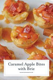 Caramel Apple Bites with Brie sind ein schnelles Apfelkuchen-Rezept mit Blätterteig. T …   – Savory Experiments Recipes