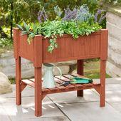 Rectangular Raised Rectangular Planter Box – Brown – Leisure Season