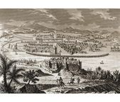 Mexico Handmade Poster Mexico City at the Time of the Spanish Conquest, Kunstdruck East Urban Ho...