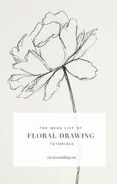 Die Mega-Liste der Tutorials für Blumenzeichnungen – Besotted