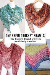 Quick and easy shawl patterns. I have gathered together some of my free patterns…