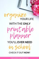 The Ultimate Printable Planner for Student Success – Productivity| Productivity Quotes