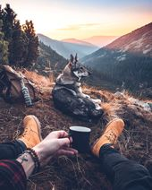 My love  Camping … Coffee and epic views! 📷: @kopernikk – 🌲 Follow @free…