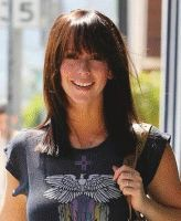 medium length hairstyles with bangs, brown straight hair, hairstyle for dimante …, #brown …