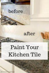 Painting Tile Backsplash One Year Update
