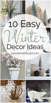 10 einfache Winterdekor-Ideen