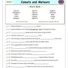 Bill Nye Comets And Meteors Worksheet Answer Sheet And Two Quizzes For Bill Nye The Science Guy Videos Th Magic School Bus Magic School Worksheets