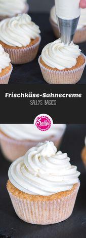 Diese standfeste Sahnecreme ist hervorragend als Topping für Cupcakes oder für… – Basics Kochen & Backen