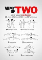 Army Of Two Workout Army Workout Partner Workout Couples