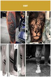 #Tattoos,New School Bird Leg Tattoo tattoo for men on leg 101 Cool tattoo design…  – girlie-stil