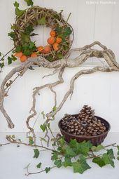 Herbstdeko – DIY-Inspirationen #Herbst #diy #basteln #natur #helloween #deko
