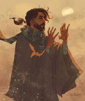 Kareem: Un gentil commerçant qui voyage avec sa jeune fille Fareeha. Vend exo …   – Character art