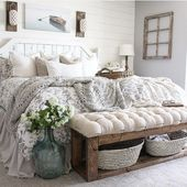 65 Charming Rustic Bedroom Ideas and Designs – #Bedroom #Charming #Designs #farm