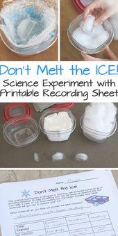 Schmelze das Eis nicht! Wissenschaftliches Experiment für Kinder – Genügsamer Spaß für Jungen und Mädchen …