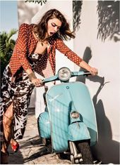 Scooter Girl Vespas 79 – #AutoundMädchen #girl #SCOOTER #Vespas