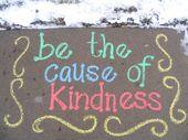 Sidewalk Chalk Project   – 1st day sidewalk chalk