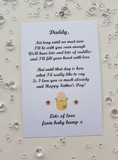 Vatertag Foto gerahmte Print Geschenk personalisiert von Baby Bump für Papa, Opa anwesend sein fi   – Products