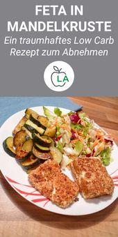 Mandelkrusten-Feta – Vegetarisches und gesundes kohlenhydratarmes Rezept