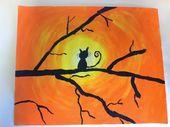 Cat Silhouette Sunsets – 5. Klasse (Farbe, wie Sie es bedeuten!)