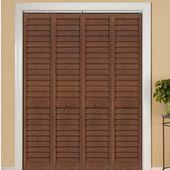 Home Fashion Technologies Lvr Lvr Solid Wood Louvered Pvc Bi Fold Door Door Size 80 H X 30 W X 1 12 D Finish Bifold Doors House Styles Wood Doors Interior
