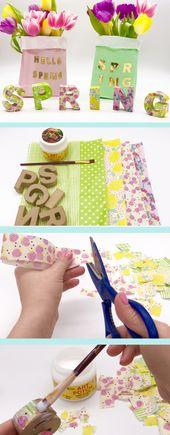 Gestalten Sie Ihre Frühlingsdekoration selbst mit Buchstaben aus Pappe – mit Video   – Share Your Crafts