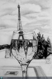70 einfache und schöne Zeichnungen des Eiffelturms und Skizzen – #Art # Zeichnung des Eiffelt…