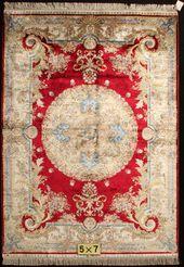 Yuxiang 5x8ft handmade silk carpet #Persiancarpet …