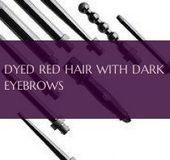 dyed red hair with dark eyebrows | 09.23.2019, #Dark #darkEyebrows #dyed #Eyebrows #Hair #Re…