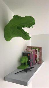Dinosaur Head Wall Art – Green, read reviews and buy online at George at ASDA. S…
