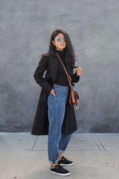 Mantel: Zara / Jeans: H & M / Schuhe: Feiyue / Absatz: Raye das Label / Tasche: … – Monika