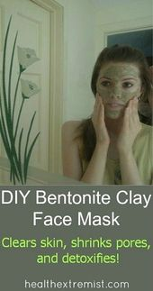 Bentonite Clay Mask Recipe – Clears skin, shrinks pores & detoxifies